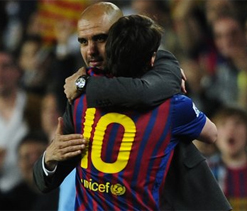 Lionel Messi bids farwell to Guardiola with 4 goals