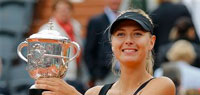 Sharapova bulldozes Sara Errani to win French Open title