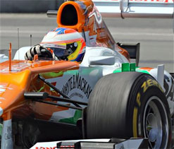Force India`s di Resta 8th fastest in Canadian GP qualifying