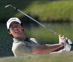 Out of form golfer McIlroy happy to get perfect pitch in baseball