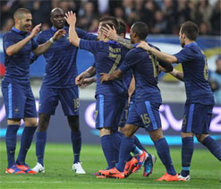Benzema & Ribery star in France's 4-0 win over Estonia