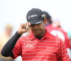 Hole-in-one icing on the cake for debutant Lahiri, Jeev slips