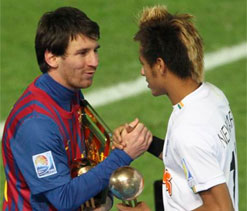 Messi should win the Ballon d`Or: Neymar