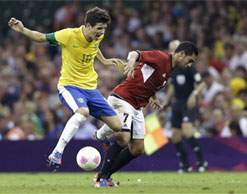London 2012: Brazil defeat Egypt in five-goal thriller