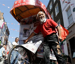 Man `rides rickshaw` from China to London Olympics