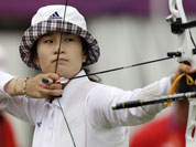 South Korea`s Ki Bo-bae aims for the target during an individual ranking round at the 2012 Summer Olympics, in London.