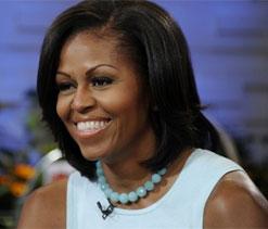 Michelle Obama arrives in Britain