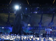 Performers dance during the Opening Ceremony at the 2012 Summer Olympics in London.
