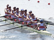 Men`s rowing eight heat in Eton Dorney, near Windsor, England, at the 2012 Summer Olympics.