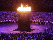 The Olympic cauldron is lit during the Opening Ceremony at the 2012 Summer Olympics in London.