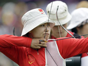 China`s Ming Cheng aims during an individual ranking round at the 2012 Summer Olympics in London.