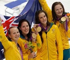 London Olympics Swimming: Australia wins 4x100m medley gold