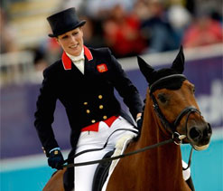 Royal Zara Phillips makes Olympic equestrian debut