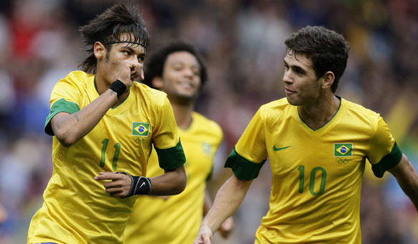 London Olympics football: Neymar gives Brazil 3-1 win over Belarus