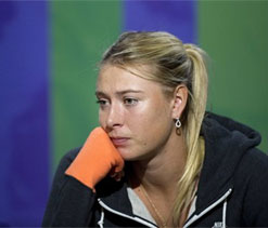Sharapova stoic about losing No.1 spot