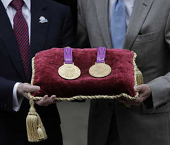 2012 Olympic medals locked in Tower of London