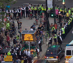 London Olympics 2012: 3 charged for cyclist protest outside Olympic Park