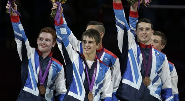 London 2012 gymnastics: China wins team gold; Great Britain get bronze