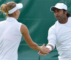 Wimbledon 2012: Paes-Vesnina in mixed doubles quarters, Bopanna out