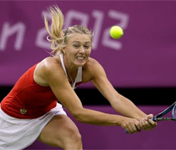 London Olympics 2012: Sharapova sweats to oust Robson in round 2