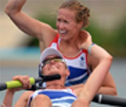 Rowers give Britain first home gold
