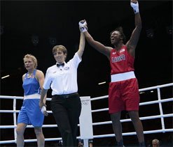 Olympic boxing: Shields pounds Russia`s Torlopova for gold