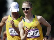 Australia`s Jared Tallent competes in the men`s 50-kilometer race walk at the 2012 Summer Olympics.