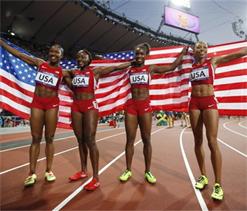 London Olympics 2012: US breaks women`s 4x100m relay world record