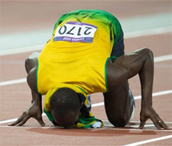London Olympics: Usain Bolt hoping to find 'love' after cementing 'track legend' status