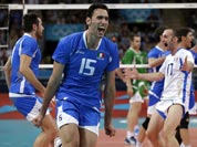 Italy`s Emanuele Birarelli (15) and Andrea Giovi (17) react following the final point of a 3-1 win over Bulgaria in the men`s bronze medal volleyball match at the 2012 Summer Olympics.