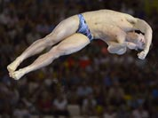 David Boudia of the United States dives during the men`s 10-meter platform diving final at the Aquatics Centre in the Olympic Park during the 2012 Summer Olympics.