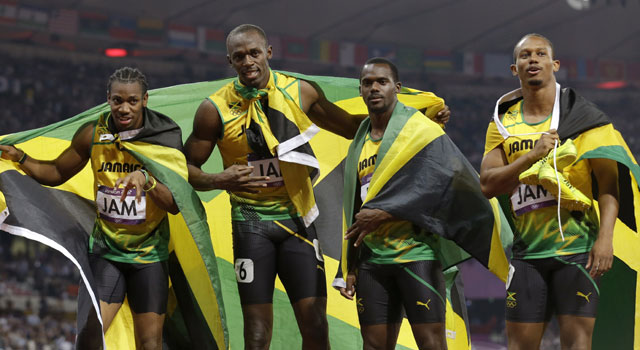 London Olympics: Bolt leads Jamaica to record sprint relay gold