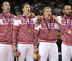 London Olympics volleyball: Russia stun Brazil to win men`s gold