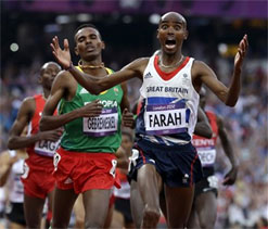 Olympic athletics: Farah adds 5000m title to 10000m gold