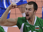Bulgaria`s Nikolay Nikolov celebrates during a men`s bronze medal volleyball match against Italy at the 2012 Summer Olympics.