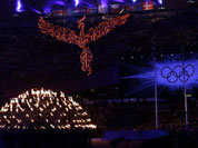 The cauldron burns during the Closing Ceremony at the 2012 Summer Olympics, Sunday, Aug. 12, 2012, in London.