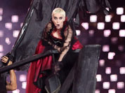 British singer Annie Lennox performs 