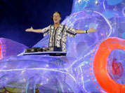 Fatboy Slim performs during the Closing Ceremony at the 2012 Summer Olympics, Sunday, Aug. 12, 2012, in London.
