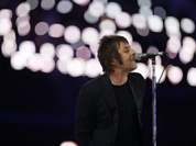 Liam Gallagher performs during the Closing Ceremony at the 2012 Summer Olympics, Sunday, Aug. 12, 2012, in London