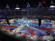 The Olympic Stadium is shown during the Closing Ceremony at the 2012 Summer Olympics, Sunday, Aug. 12, 2012, in London.