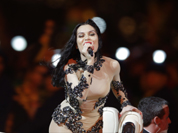 British singer Jessie J performs during the Closing Ceremony at the 2012 Summer Olympics, Sunday, Aug. 12, 2012, in London.
