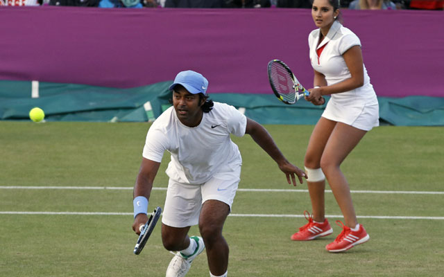 London Olympics tennis: Paes-Sania crash out of mixed doubles