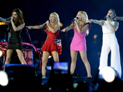 The Spice Girls perform during the Closing Ceremony at the 2012 Summer Olympics, Sunday,