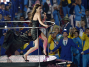 Posh Spice of the the British pop group Spice Girls performs during the Closing Ceremony at the 2012 Summer Olympics, Sunday