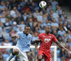 EPL 2012: Manchester City win 3-2 over Southampton
