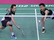 Malaysia`s Koo Kien Keat, left, and Tan Boon Heong, play against Thailand`s Maneepong Jongjit and Bodin Isara, unseen, at a men`s doubles badminton quarterfinal match of the 2012 Summer Olympics.