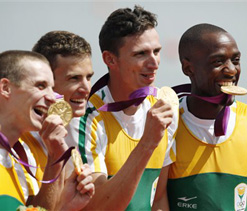 London Olympics rowing: South Africa takes gold in coxless fours