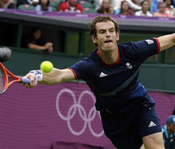 Olympic tennis: Britain`s Murray reaches semis