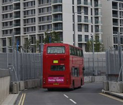 Olympic bus hits, kills cyclist near stadium