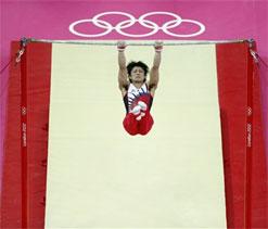 Classy Uchimura wins all-around gymnastics gold